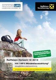 Flyer Raiffeisen Horizont 12/2013 - Raiffeisen Versicherung