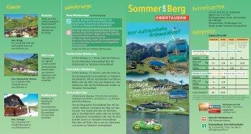 Sommerprospekt download - Obertauern