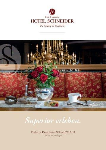 Preisliste Winter 2013/14 als PDF - Hotel Schneider Obertauern
