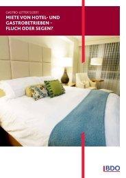 MIete von hotel- und GastrobetrIeben - Fluch oder seGen?
