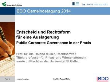 Prof. Dr. iur. Roland Müller, Rechtsanwalt und Notar ...