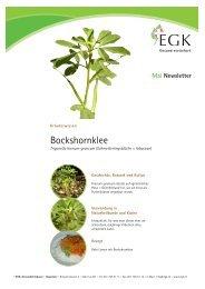 Bockshornklee - EGK-Gesundheitskasse
