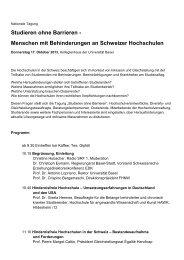 barrierefreie Tagungsbroschüre [PDF, deutsch] - Universität Basel