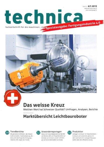 Technica, Sonderausg. Fertigungsindustrie 4.0, 06, 07-13