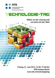 Flyer - NTB - Interstaatliche Hochschule für Technik Buchs