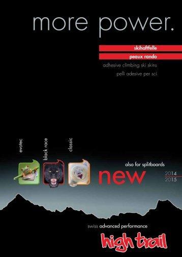 Aktueller Prospekt der high trail Skihaftfelle zum Download (DE/FR)