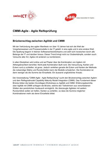 CMMI-Agile - Agile Reifeprüfung - Referenten und Abstracts - SAQ