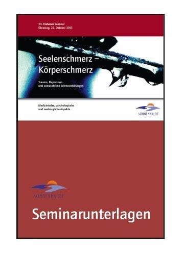 Seminarunterlagen 2013 - Sonnenhalde