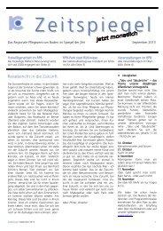 Zeitspiegel September 2013 - Regionales Pflegezentrum Baden