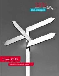 Revue 2013 mit Rechenschaftsablage 2012 (PDF, 1.85 MB ) - Sanu