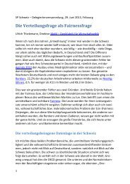 Referat Ulrich Thielemann - SP Schweiz
