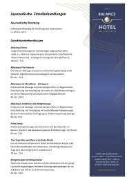Ayurvedische Behandlungen (PDF)