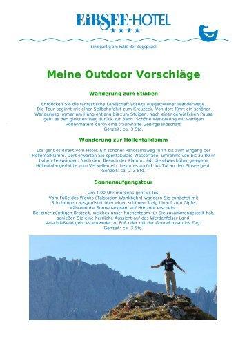 Outdoorprogramm Sommer: Wandern und ... - Eibsee Hotel