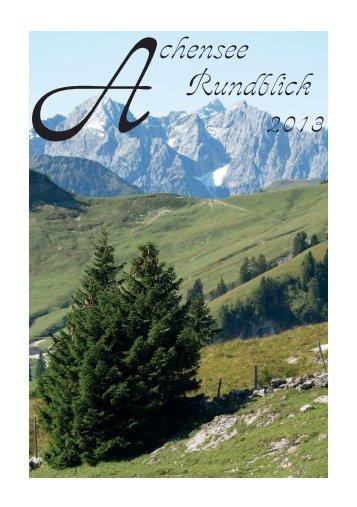 A chensee Rundblick - DAV Sektion Achensee