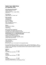 Datteln Open AQHA Show 28. September 2013 - DQHA