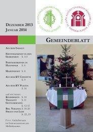 Dezember/Januar2014 - Auferstehungskirche Dresden-Plauen
