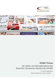 Ausgabe 32 (06.08.2013) - Der Deutsche Olympische Sportbund