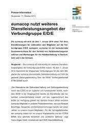 eumacop nutzt weiteres Dienstleistungsangebot der ... - EDE