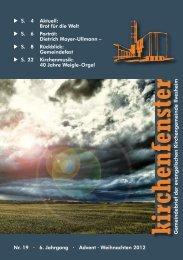 Gemeindebrief Nr. 19 / Advent/Weihnachten 2012 - Evangelischen ...