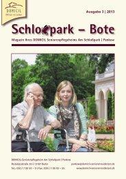 Das Magazin des DOMICIL-Seniorenpflegeheims in Berlin Pankow