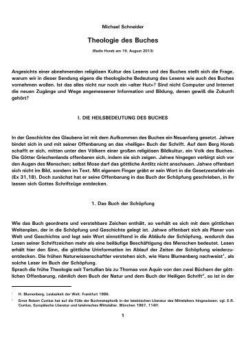 Theologie des Buches - Kath.de