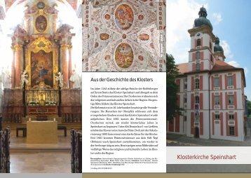 Flyer Klosterkirche - Kloster Speinshart