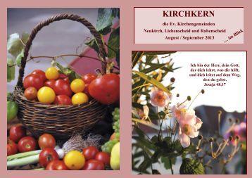 Gemeindebrief August September 2013 Neu - Evangelisches ...