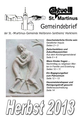 Herbst 2013 [ pdf | Größe: 1 MB ] - Kirchengemeinde St. Martinus