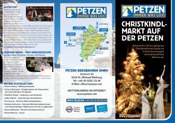 CHRISTKINDL- MARKT AUF DER PETZEN