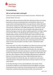Pressemitteilung Wie es nach dem Abitur weitergeht - Sparkasse ...
