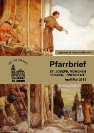 Pfarrbrief - Pfarrei St. Joseph