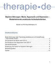 Dossier Bipolare Störungen, PDF - Therapie.de
