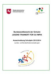 Bundeswettbewerb der Schulen JUGEND TRAINIERT FÜR ... - TTVN