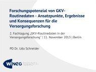Forschungspotenzial von GKV-Routinedaten - Techniker ...