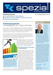 TK spezial Ausgabe 3 - September 2013 (PDF, 214 KB ) - Techniker ...