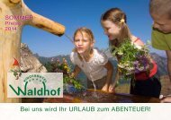 Sommerprospekt 2014 - Kinderhotel Waldhof