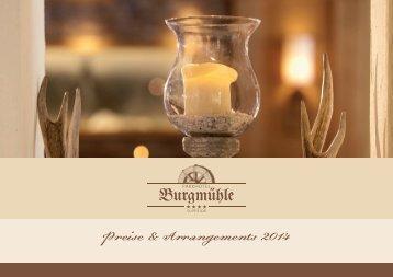 Preisliste downloaden - Parkhotel Burgmühle