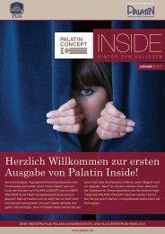 Herzlich Willkommen zur ersten Ausgabe von Palatin Inside!