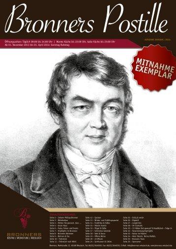 MITNAHME EXEMPLAR - Bronners Wiesloch