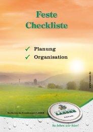 Feste Checkliste - Privatbrauerei Lasser