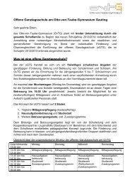 Offene Ganztagesschule - Otto-von-Taube-Gymnasium
