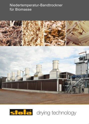 Bandtrockner für Biomasse - stela Laxhuber GmbH