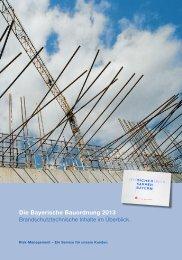 Die Bayerische Bauordnung 2013 - Versicherungskammer Bayern