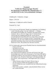 Protokoll Diagnosegruppe Myositis Teil II - 8.3.2013 - DGM