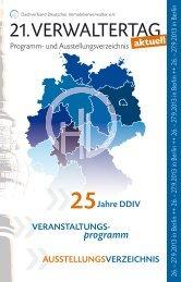 21. VERWALTERTAG - Dachverband Deutscher Immobilienverwalter