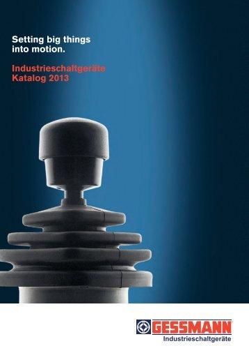Industrieschaltgeräte Katalog - W. Gessmann GmbH