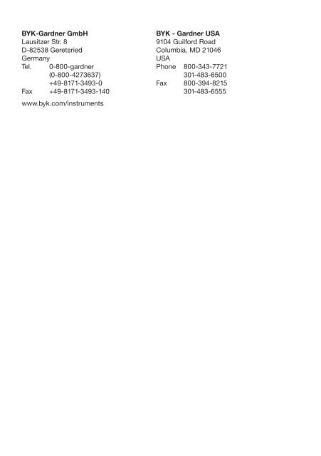 temp-gard temp-chart - BYK Additives & Instruments
