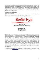 3. Nachtrag 11.11.2013 - Berlin Hyp