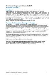 Kommission Jungen- und Männerarbeit - Bayerischer Jugendring