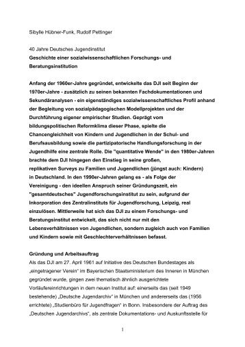 Durchblick - Deutsches Jugendinstitut e.V.